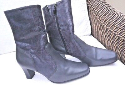 Pavers Ladies Ankle 'Comfort'  Boots - Grey Leather - Size 37/5 • 12.99£