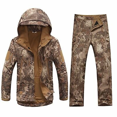 Men's Army Clothes Suit Military Winter Autumn Waterproof Shark Skin Soft Shell • 94.06£