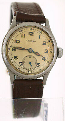 $ CDN374.94 • Buy Vintage 1940s Pronto 24 Hr Dial Military Watch 30mm Stainless Steel