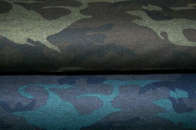Camouflage/Cammo Ponte Roma Double Knit Stretch Jersey Fabric By 1/2M 150cm W • 4.50£