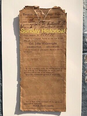 $224.95 • Buy Civil War 54th Massachusetts Inf Vols Co. C Pension & Discharge Papers Envelope
