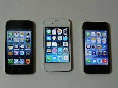 $ CDN72.91 • Buy IPhone's 4,4S,4S 2 AT&T 16GB, And 1 Verizon 8GB (Lot Of 3)