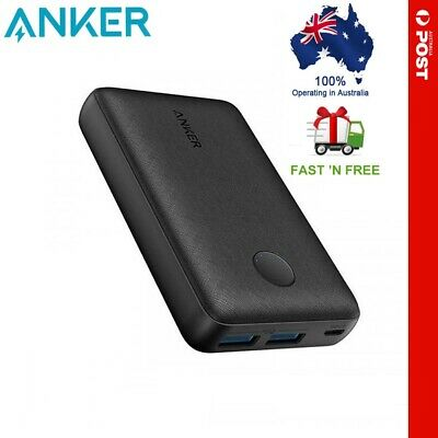 AU46.99 • Buy Anker PowerCore 10000mAh 2.4A 2 Port USB High Speed 12w Power Bank Charger