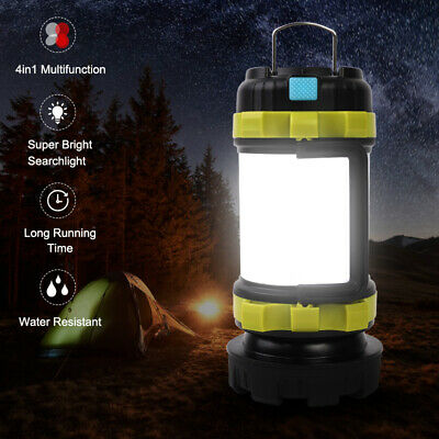 AU24.85 • Buy Rechargeable LED Camping Lantern Outdoor Spotlight Torch Tent Light Searchlight