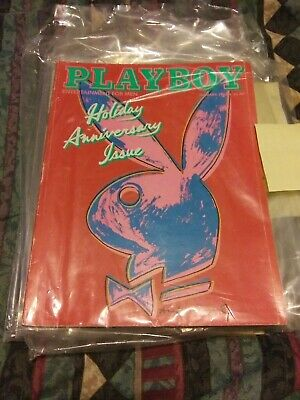 $1.10 • Buy Playboy January 1986 Andy Warhol Cover Holiday Anniversary Issue