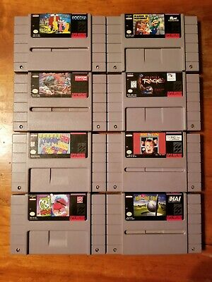 $ CDN13.13 • Buy Nintendo SNES 8 Game Lot - Addams Family Mario Is Missing Street Fighter II More
