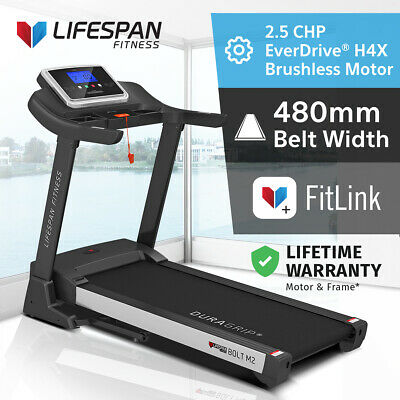 AU784 • Buy Lifespan Fitness Bolt M2 Electric Treadmill EverDrive X Brushless Motor 480mm
