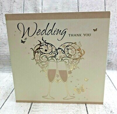 £1.55 • Buy 6 Thank You Wedding Gift Cards And Envelopes By Simon Elvin  DP290N