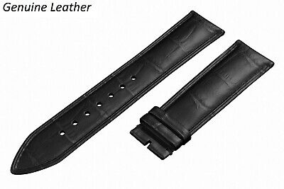 £6.45 • Buy Genuine Leather BLACK Strap For ACCURIST Watch Band Buckle Clasp 12-24 Mens