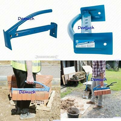 New Silverline 16 /40CM ADJUSTABLE BRICK TONGS Clamp Carrier Lifter 6-10 Bricks • 17.99£