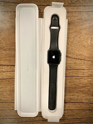 $ CDN118.31 • Buy Apple Watch 42mm Space Gray Aluminum Case Black Sport Band