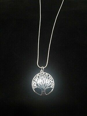 $8.99 • Buy Tree Of Life Necklace Sterling Silver Pendant On Sterling Silver Chain