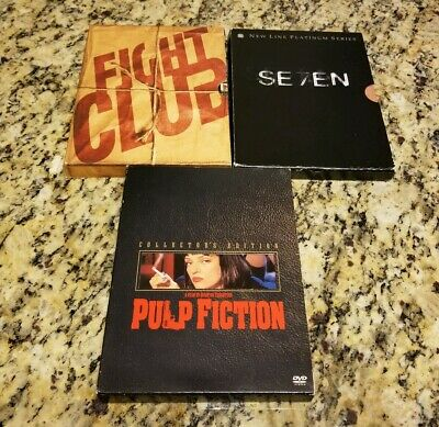 $ CDN13.13 • Buy Lot Of 3 Collector's Edition DVDs - Seven / Fight Club / Pulp Fiction