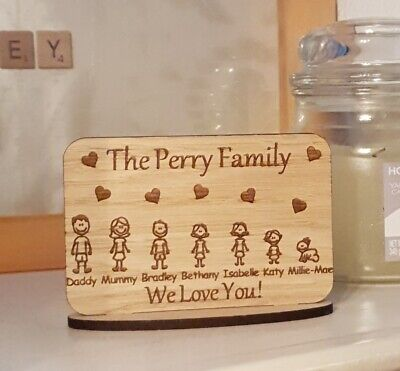 £6.99 • Buy Personalised Fathers Day Gift Gifts For Him Her Daddy Family Portrait Plaque