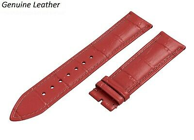 £6.45 • Buy Genuine Leather RED Strap For ACCURIST Watch Band Buckle Clasp 12-24mm Mens