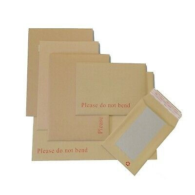 £0.99 • Buy Hard Board Backed Envelopes 'Please Do Not Bend' Manilla Brown│Strong & Rigid