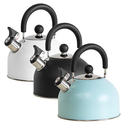 Vintage 2 Litre Stove Top Whistling Kettle Oven Hob Caravan Camping Accessories  • 14.99£