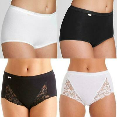 £4.99 • Buy Ladies Briefs Womens Knickers Soft Comfy Maxi Underwear 3 Pairs Light Control