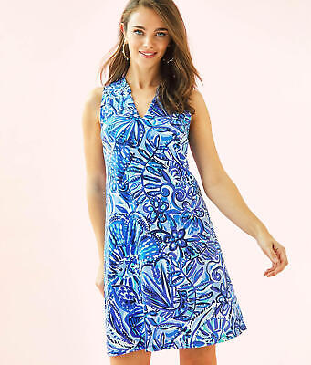 $42.99 • Buy Lilly Pulitzer Emile Dress NWT S Iris Blue Zanzibar Zoo Sleeveless Tank
