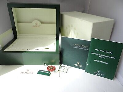 $ CDN380 • Buy Rolex Watch Box 39139.64 Submariner Date Inner, Outer And Papers  Vintage 2000's