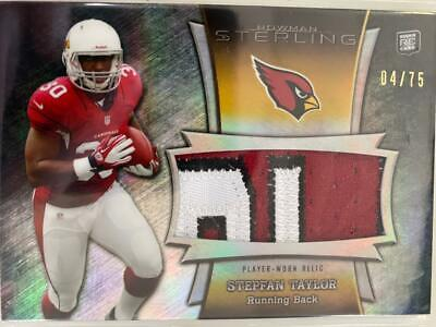 $0.89 • Buy Stepfan Taylor 2013 Bowman RC Patch Jersey Arizona Cardinals 4/75 C18