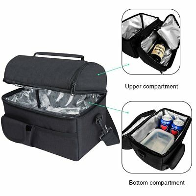 AU20.79 • Buy 8L Insulated Lunch Cooler Bag Box For Men Women Kids Storage Portable Thermal AU