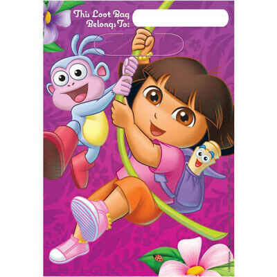 DORA THE EXPLORER Loot Party Bags Pack Of 8 Lolly Favour Birthday Kids • 1.09£