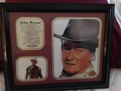 $33 • Buy John Wayne The Duke Framed Collectible Photo Collage