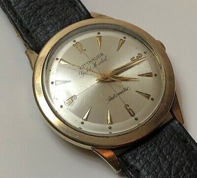 $ CDN490 • Buy Rare Vintage Longines Wittnauer Gold Medal Automatic Watch 10k Gold Filled 1950s