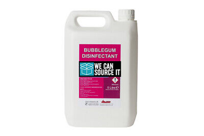 Bubblegum Fragrance Disinfectant For Cleaning, Pets, Kennels, Cats, Dogs 5 LTRS • 8.50£