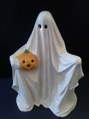 $ CDN22.32 • Buy Vintage Ceramic Ghost With Jack O Lantern Light Up Figure Halloween Byron Mold