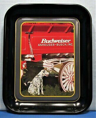 $ CDN12.84 • Buy Bud Tray ~ Clydesdale Budweiser Beer Wagon With Dalmatian Guard Dog