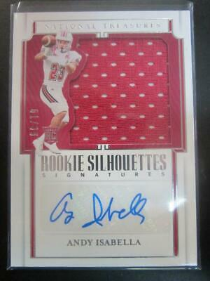 $0.89 • Buy Andy Isabella 2019 National Treasures Silhouettes Jersey Auto RC #61/99 #151 M3