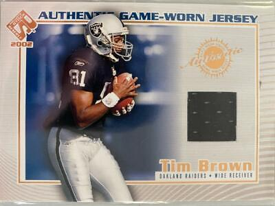 $0.89 • Buy Tim Brown 2002 Private Stock Game Worn Jersey Oakland Raiders C21