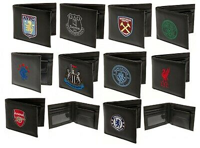 £10.75 • Buy Embroidered Crest Leather Football Club Sports Team Money Wallet Coin Purse