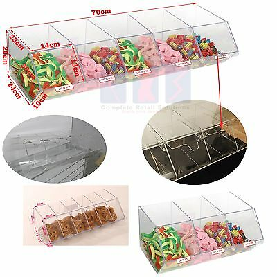 Pick N Mix Sweet Acrylic Dispenser Display Stacking Bin Holder • 54.99£