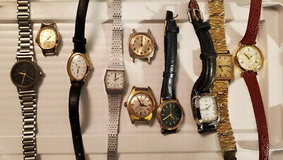$ CDN9.99 • Buy Lot Of 10 Vintage Timex Ladies Wristwatches Watch Parts Repair