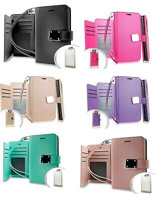 AU11.34 • Buy For IPhone X S Max XR Shockproof Case With Double Flap Wallet Credit Card Holder