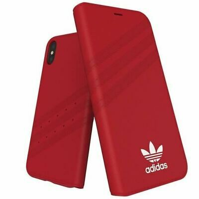 AU22.95 • Buy Genuine Adidas  Booklet Case Cover For Apple IPhone Xs/X (5.8) - Red
