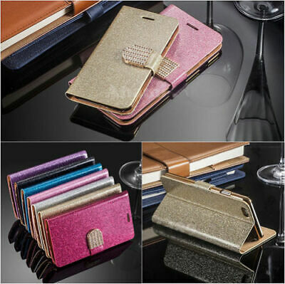 AU6.80 • Buy Bling Glitter Magnetic Flip Cover Wallet Case For IPhone 5s/5c/6/6+/7/7+