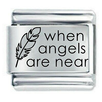 Daisy Charm  - WHEN ANGELS FEATHERS  * Compatible With Italian Charm Bracelets • 3.65£