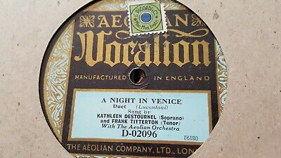 Kathleen Destournal & Frank Titterton A Night In Venice Vocalion D-02096  • 5.99£