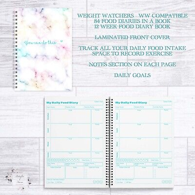 Weight Watchers Ww Compatible 12 Week Food Diary Book 84 Daily Food Diaries Book • 6.45£