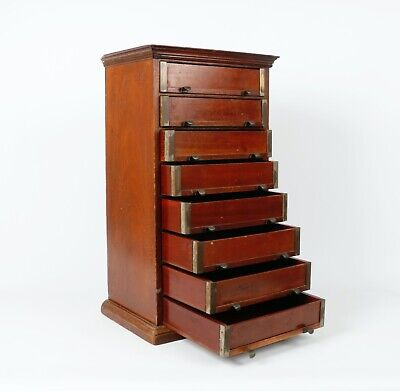 19th Century Mahogany Specimen Collectors Chest Of Eight Drawers - Entomologist • 600£