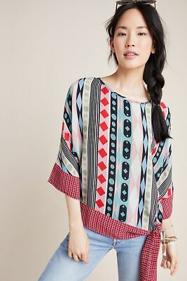 $ CDN119.65 • Buy Anthropologie Geometric Dolman-Sleeved Blouse XL *NWT* Only One!*