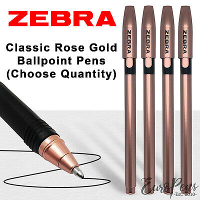 £1.75 • Buy Zebra Rose Gold Pens - Smooth Ballpoint Pens - Quantities Available