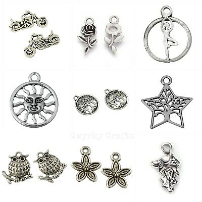 Tibetan Silver Charms Pendants Jewellery Card Making Crafts Antique Colour LOT 3 • 1.89£