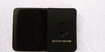 NJ/NY Style-Police-Sergeant Officer's Mother Family Mini Badge ID Wallet Leather • 10.12£