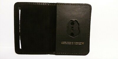 NJ/NY Style-Police-Sergeant Officer's Nephew Family Mini Badge ID Wallet Leather • 10.12£