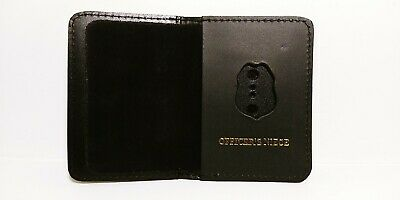 NJ/NY Style-Police-Sergeant Officer's Niece Family Mini Badge ID Wallet Leather • 10.12£